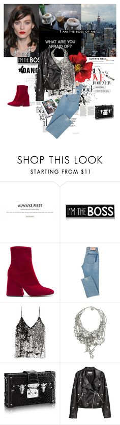 """""""I am the boss of me"""" by karliuxxx ❤ liked on Polyvore featuring Gianvito Rossi, Cotton Candy, Maison Margiela, Bobbi Brown Cosmetics, KEEP ME, Samsøe & Samsøe, Tom Binns, H&M and Chanel"""