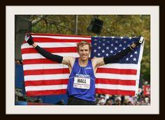 Marathoner, Ryan Hall working along side of @World Vision