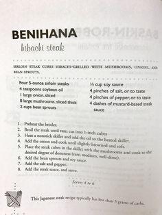 Benihana Hibachi Steak recipe