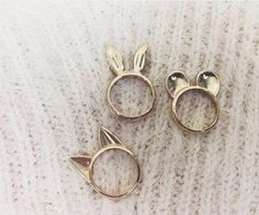 Cute animal ears, rings