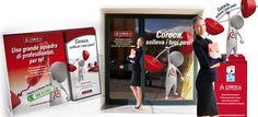 C.O.R.O.C.A. S.r.l. - Espositori e vetrofanie per personalizzazione affiliati. Realizzazione: Agenzia Verde