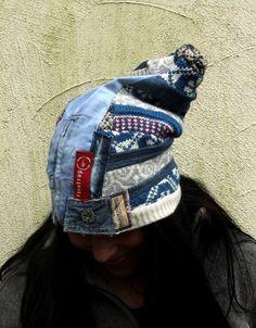 WINTER SALE Crazy patchwork denim recycled sweaters от jamfashion