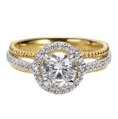Two Tone Engagement Rings - http://ebarah.com/two-tone-engagement-rings/