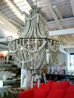 Chandelier Created Using Ceramic Beads From Hellooow Home Pinterest Chandeliers And