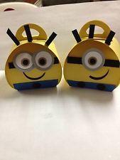 Stampin Up Curvy Treat Box Minion Treat Box Birthday or Parties - 2 designs