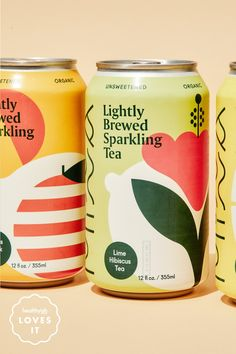 Graphic Design Discover Im Now A Person Who Drinks Lightly Brewed Sparkling Tea Most sparkling teas are too syrupy and sweet but Minnas unsweetened teas are straight-up refreshing. Juice Packaging, Beverage Packaging, Bottle Packaging, Coffee Packaging, Cereal Packaging, Juice Branding, Tee Design, Label Design, Graphic Design