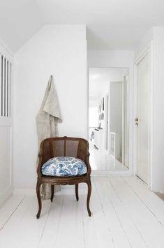 White + blue hallway