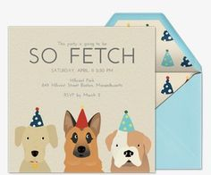 nice Dog Party Invitations Epic Dog Party Invitations 62 With Additional invitation definition Inspiration with Dog Party Invitations Dog First Birthday, Puppy Birthday Parties, Puppy Party, Animal Birthday, Birthday Party Themes, Birthday Hats, Birthday Ideas, Unique Cards, Birthday Party Invitations