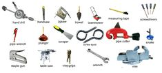 Tools you can find in a workshop to do jobs around the home
