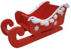 Bastelanleitung: Weihnachtlicher Schlitten aus Holz