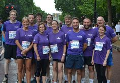 The Premier Pensions British 10k 2014 team on the Mall before the run in London - 13th July 2014