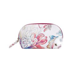 Women's Elliott Lucca Travel Dome Cosmetic - White Wildflower Faux... ($36) ❤ liked on Polyvore featuring beauty products, beauty accessories, bags & cases, travel kit, make up purse, make up bag, toiletry bag and travel bag