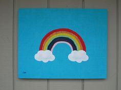 Rainbow #2 Fabric Wall Art by CottonwoodCove on Etsy