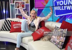 JoJo Siwa visits the Young Hollywood Studio on April 25, 2017 in Los Angeles, California.