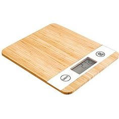 Smart Weigh Bamboo Digital Kitchen Scale with Tare Feature