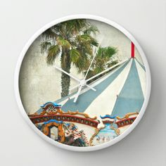 Carnival Oasis Wall Clock by Lisa Argyropoulos Best Wall Clocks, Tic Toc, Cool Walls, Oasis, Carnival, Lisa, Home Decor, Decoration Home, Room Decor
