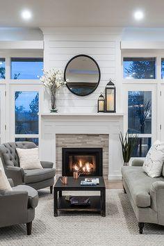 Decor Home Living Room, Living Room Remodel, New Living Room, Home And Living, Living Room Designs, Home Decor, Fireplace Built Ins, Home Fireplace, Fireplace Remodel