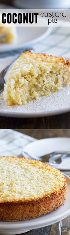 Coconut lovers won't be able to get enough of this Coconut Custard Pie - it is super thick, creamy, and full of coconut flavor.