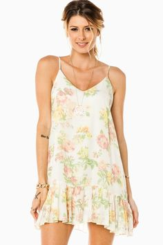 ShopSosie Style : Garden Party Dress in Ivory
