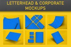 Letterhead & Corporate Mockups by KlapauciusCo on Envato Elements Print Templates, Psd Templates, Letterhead Template, Web Ui Design, Business Logo Design, Letterpress, Mockup, 3 D, Cards