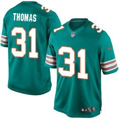 Youth Nike Miami Dolphins #31 Michael Thomas Limited Aqua Green Alternate NFL Jersey
