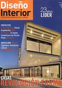 Diseño interior:  interiorismo, arquitectura y diseño. Nº 262. Casas: nuevos códigos.  Sumario: http://www.disenointerior.es/index.php/mod.pags/mem.detalle/relcategoria.5733/idpag.6812/prev.true/chk.83713541929cac230892ef9dfed0afe4.html Na biblioteca: http://kmelot.biblioteca.udc.es/record=b1178089~S1*gag