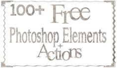 Free Photoshop Elements Actions!