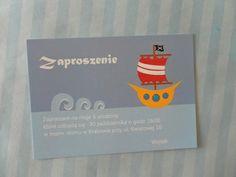 Zaproszenie na Pirackie Urodziny Pirates Party Invitation  www.SweetPrint.pl