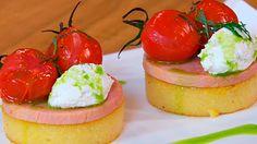 Receta de polenta con tomates asados