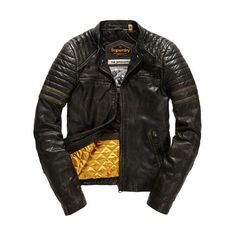 Superdry Endurance Speed Leather Jacket ($396) ❤ liked on Polyvore featuring men's fashion, men's clothing, men's outerwear, men's jackets, black, mens short sleeve jacket, superdry mens jackets, mens motorcycle jacket, mens leather biker jacket and mens collarless leather jacket