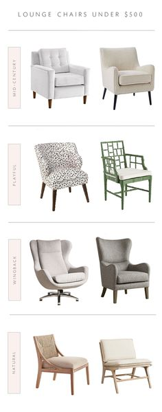 lounge chair roundup - our favorite accent chairs for under $500!