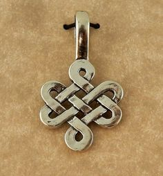 Sterling silver Irish Celtic Knot Weave Pendant by celtictreasures