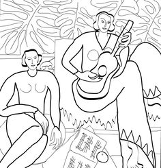 Henri Matisse, La Musique, 1939. Albright-Knox Art Gallery, Buffalo, New York.