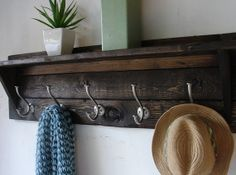 Hey, I found this really awesome Etsy listing at https://www.etsy.com/listing/164559716/paloma-rustic-modern-5-hanger-hook-coat