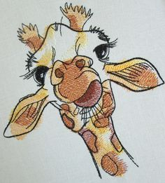 Giraffe Machine Embroidery Design Embroidery Giraffe Giraffe   Etsy