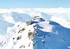 Gipfelrestaurant, Tilla Theus, Scherrer, Weisshorn, Arosa, Switzerland, restaurant, prefabricated, Swiss Alps, Graubunden
