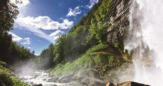 Le Grand Saut, l'une des Cascades du Hérisson | Région des Lacs | Jura - France | Crédit photo : Stéphane Godin/JuraTourisme | #JuraTourisme #Jura