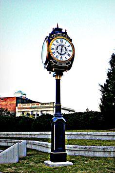 clock downtown in my little city (Alexandria, LA)