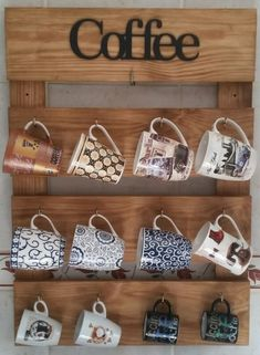 Diy Cup Holder Ideas Are Functional And Inspiring bar ideas party bevera. - Diy Cup Holder Ideas Are Functional And Inspiring bar ideas party beverage stations Diy Cup - Coffee Mug Display, Coffee Mug Holder, Diy Home Crafts, Diy Home Decor, Coffee Bar Home, Bars For Home, Pallet Furniture, Kitchen Decor, Mugs