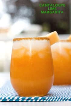 Cantaloupe Lime Margarita These Cantaloupe Margaritas take an often underrated fruit and blend it with tequila and lime juice for the perfect summer cocktail! Coconut Lime Margarita Recipe, Margarita Mocktail Recipe, Key Lime Margarita, Cantaloupe Recipes, Margarita Cocktail, Easy Summer Cocktails, Lime Recipes, Margaritas, Cocktails