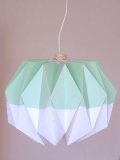 Origami lamp shade 'Pastel green' by Rocketgirls on Etsy https://www.etsy.com/listing/227323808/origami-lamp-shade-pastel-green
