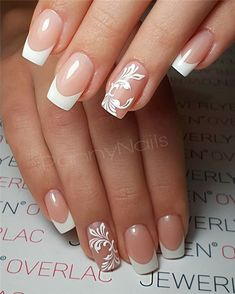 70 Hottest French Nails Design Inspirations in 2019 - Soflyme - 80 Hottest Fre. 70 Hottest French Nails Design Inspirations in 2019 - Soflyme - 80 Hottest French nails Inspirations in French manicure have always been the first choice for - French Acrylic Nails, French Manicure Nails, French Nail Art, French Tip Nails, Short French Nails, French Salon, French Manicure Designs, Nail Art Designs, Nails Design