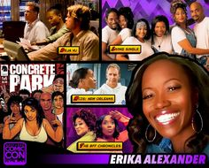 *PIN to WIN* Welcome back our next Salt Lake Comic Con 2015 guest... actress and comic creator, Erika Alexander! She is best known for playing Maxine Shaw in the hit series Living Single, and creating the dark, sexy sci-fi saga, Concrete Park for Dark Horse Comics with fellow con alum, Tony Puryear. Erika is an NAACP award winner and has been an indie film standout. Meet her in September: http://saltlakecomiccon.com/portfolio-item/erika-alexander/?cc=ERIKA
