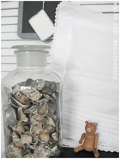 Oyster shells...