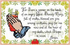 DIY Archer Inspired Bloody Mary Prayer Cross Stitch (PDF) Pattern >>> Instant Download by GeekSwank on Etsy https://www.etsy.com/listing/259217033/diy-archer-inspired-bloody-mary-prayer