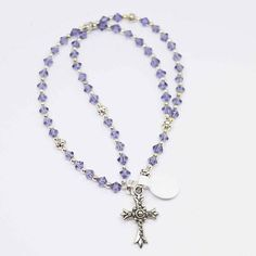 Check out VIOLET PURPLE Handcrafted Beaded Catholic Saints *Full* Rosary Chaplet Bracelet on dunglebees
