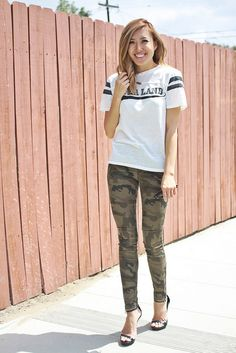 fashion blogger ootd what i wore camo pants lovefashionlivelife