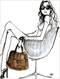 Izak Zenou Illustrator for Henri Bendel