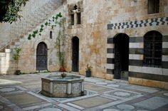 Old house Aleppo City, Land Before Time, Damascus, Islamic Art, Civilization, Patio, Architecture, Places, Outdoor Decor