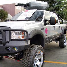 Truck with machine gun...